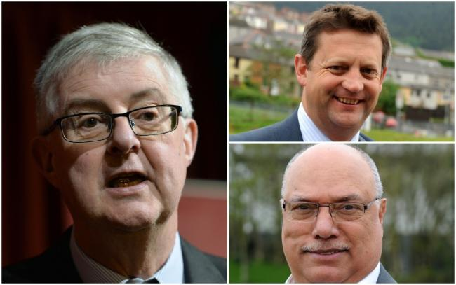 Mark Drakeford, Alun Davies and Mohammad Asghar