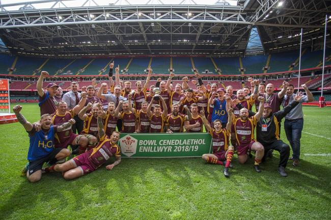 WINNERS: Abergavenny edged out Oakdale in a Principality Stadium thriller at finals day last season