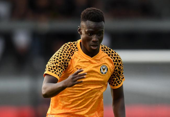 LOAN: Newport County striker Momodou Touray has returned to Barry Town United