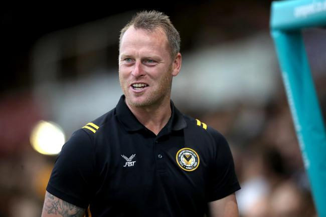 TARGETS: Newport County manager Michael Flynn wants more goals and more points