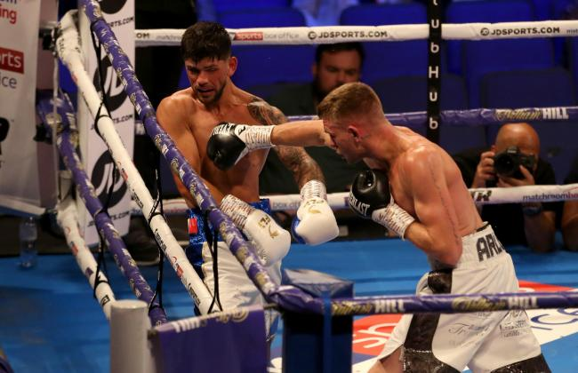 ON THE ATTACK: Gavin Gwynne, right, finds his way through Joe Cordina's defences at the O2. Picture: Steven Paston/PA Wire
