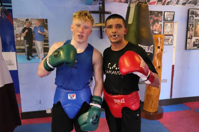 MASTER AND APPRENTICE: Jordan Withers, left, with St Joseph's stablemate Lee Selby. Picture: www.liamhartery.com