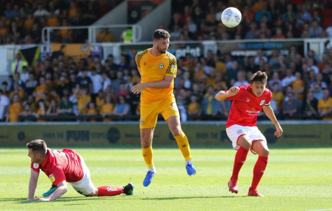 VICTORY: Newport County striker Padraig Amond scored the winner against then-leaders Crewe Alexandra last month