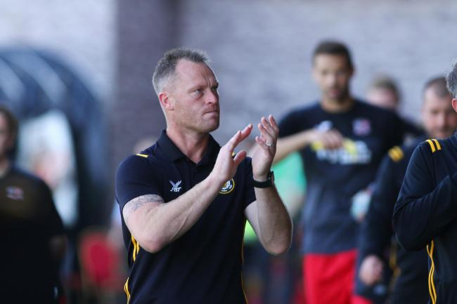 FRUSTRATED: Newport County manager Michael Flynn