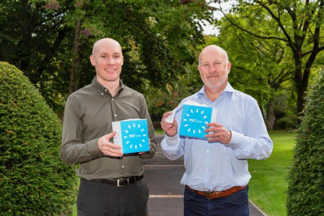 PillTime founder Paul Mayberry (right) with new team member, superintendent pharmacist Tim Morgan (left)