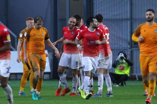 FLASHBACK: Salford City have already beaten Newport County at Rodney Parade this season, winning 2-1 in November