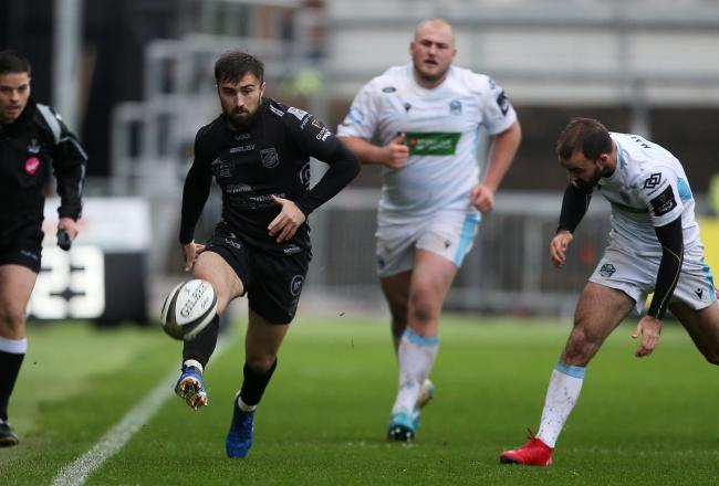 DANGERMAN: Full-back Jordan Williams on the run for the Dragons against Glasgow