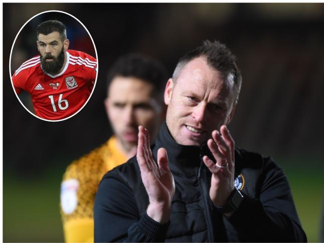 TARGET: Newport County manager Michael Flynn is still hoping to sign Wales international Joe Ledley, inset