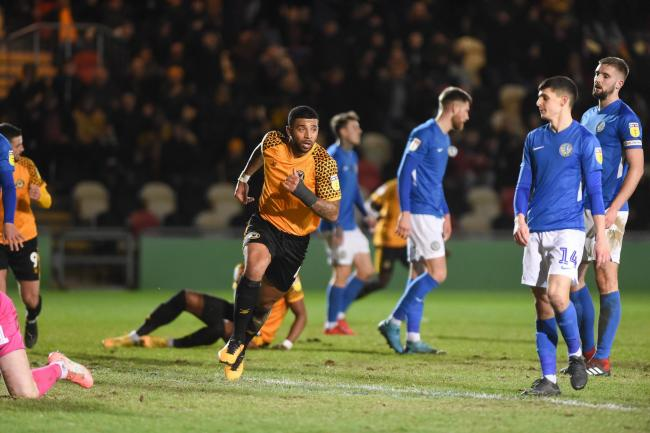 GOAL: Joss Labadie sealed a 1-0 win for Newport County against Macclesfield Town on Tuesday