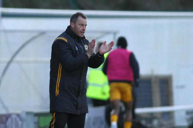 POSITIVE: Newport County manager Michael Flynn was pleased with his side's performance in defeat at Plymouth Argyle