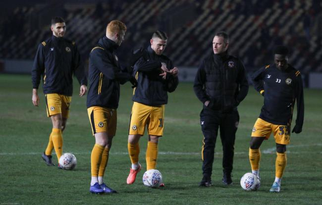 POSITIVE: Newport County manager Michael Flynn believes his team can reach the League Two play-offs again