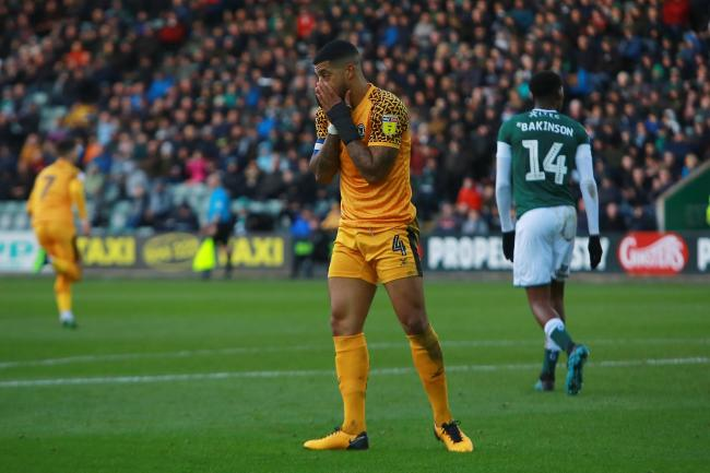 FRUSTRATED: Newport County captain Joss Labadie reacts after seeing another chance go to waste at Plymouth Argyle last week