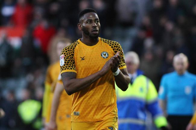 CONFIDENT: Newport County striker Jamille Matt