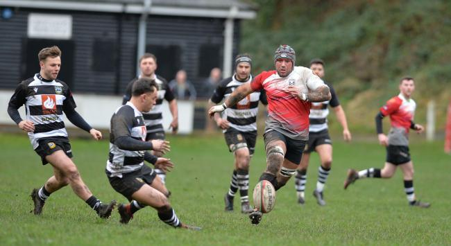 FIGHTING SPIRIT: It has been a tough week for Cross Keys and Bedwas, pictured playing each other at Pandy Park last month