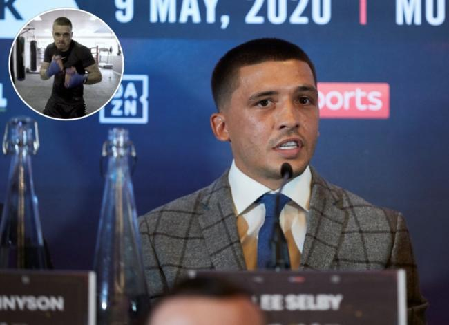 Lee Selby and, inset, George Kambosos
