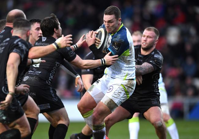 TAKEOVER: Wales and Lions wing George North on the run for the Ospreys, who have been taken over by new owners