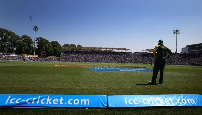 A general view Sophia Gardens in the sun during the ICC Champions Trophy match..