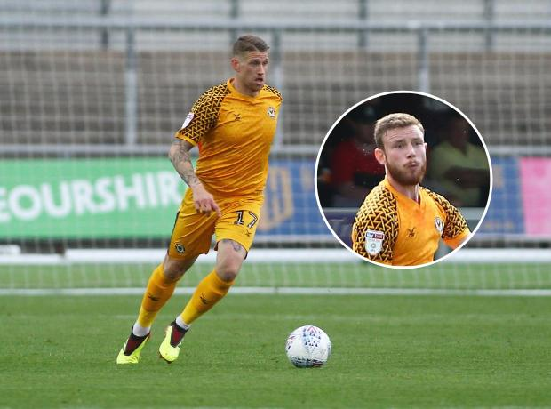 NEW DEAL: Scot Bennett is staying in Newport, much to the relief of Mark O'Brien (inset)