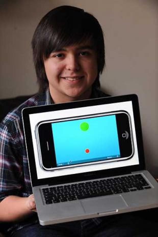 IPhone App inventor, Joshua Tucker, 14