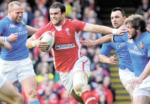 ATTACKING THREAT: Jamie Roberts remains key