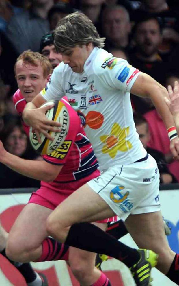 SHINING AT 10: Steffan Jones has been in great form for the Dragons