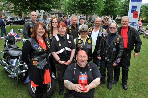 Members of the Royal British Legion riders at the party in the park