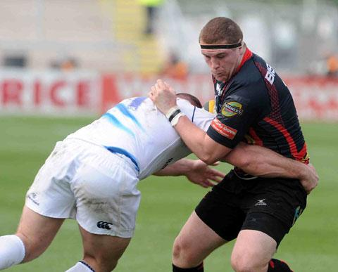 BACK AT PROP: Dragons loosehead Phil Price