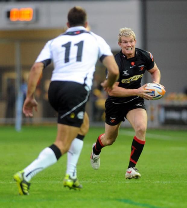 CENTRE STAGE: Pat Leach is due to make his 31st appearance for the Dragons tomorrow
