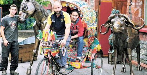 Risca store's rickshaw could offer exotic pedal-power
