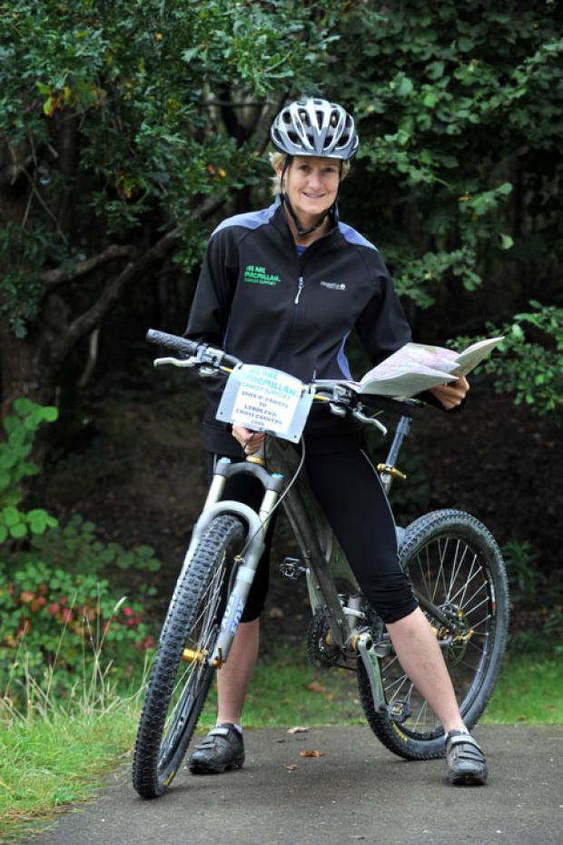 AFRICAN PEDAL POWER: Sgt Angela Burt of Blackwood