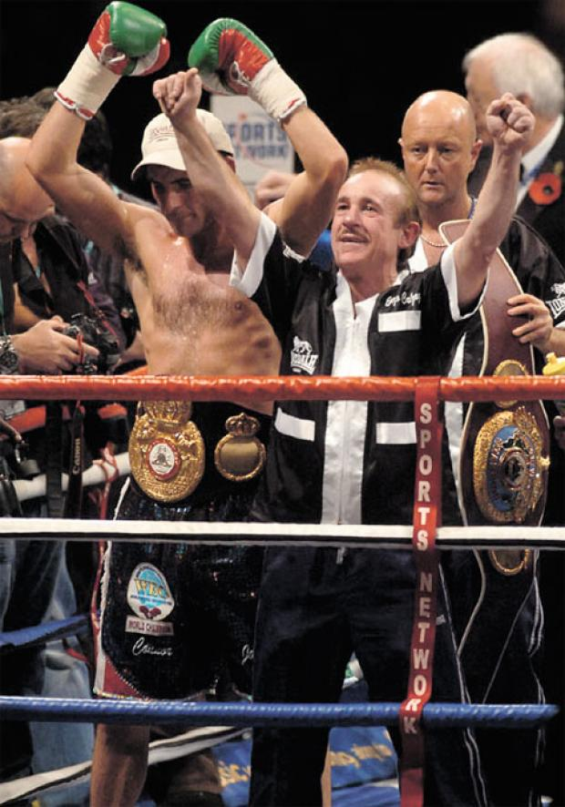CHAMPIONS: Joe Calzaghe with his dad Enzo Calzaghe to tell all in autobiography