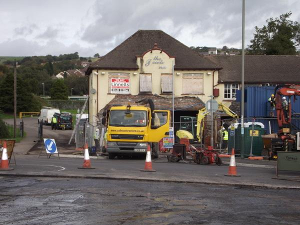 The road works and building work in Penryheol related to the new Tesco store