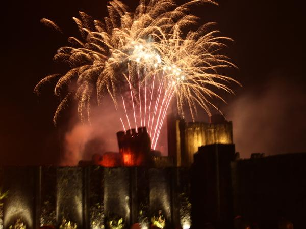 Fireworks go off with a bang in Caerphilly