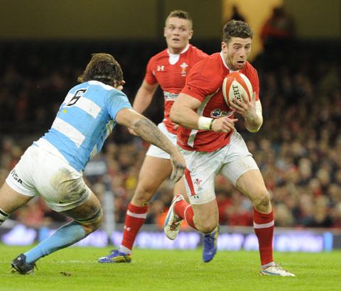 LOOKING AHEAD: Wing Alex Cuthbert believes Wales can't afford to wallow after the weekend's surprise defeat to Argentina