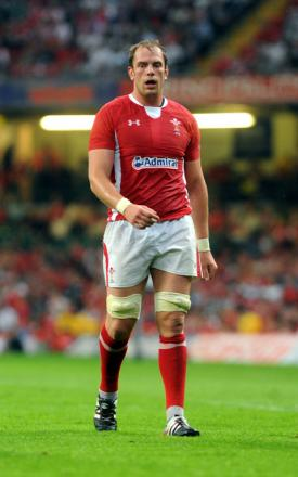 BIG BLOW: Alun Wyn Jones has won Grand Slams with Wales in 2008 and 2012