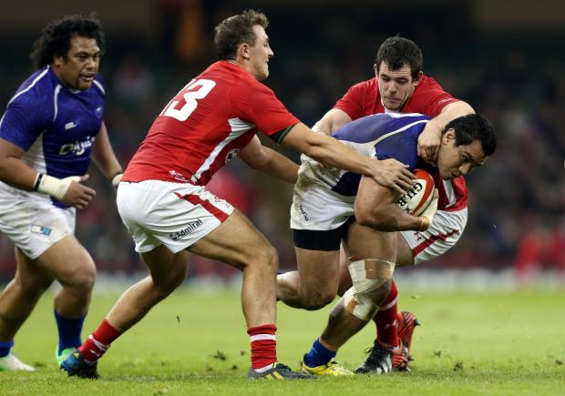 READY FOR BATTLE: Wales' Aaron Jarvis