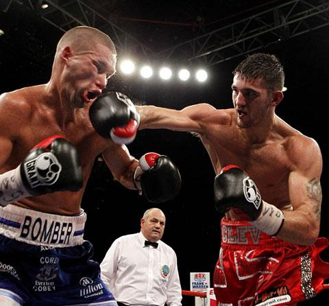 WORLD CHAMPION: Nathan Cleverly on his way to victory over Tony Bellew