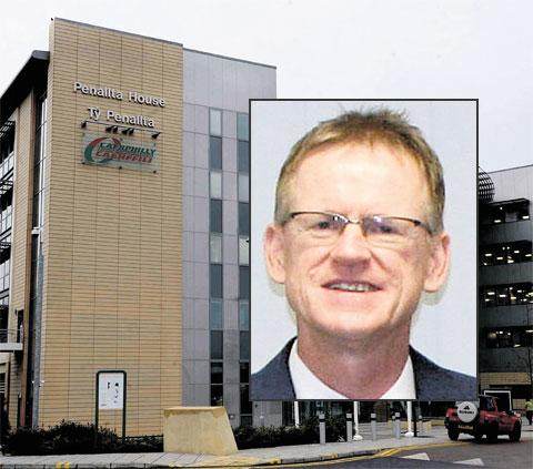 PAY ROW: Caerphilly council chief executive Anthony O'Sullivan