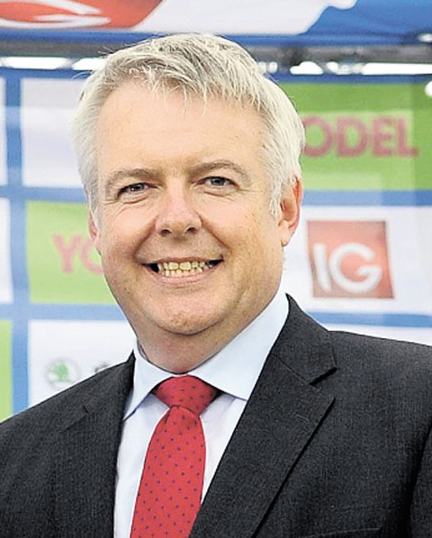 DELIGHTED: First Minister Carwyn Jones