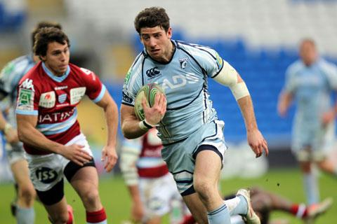 STAYING PUT: Cardiff Blues and Wales ace Alex Cuthbert