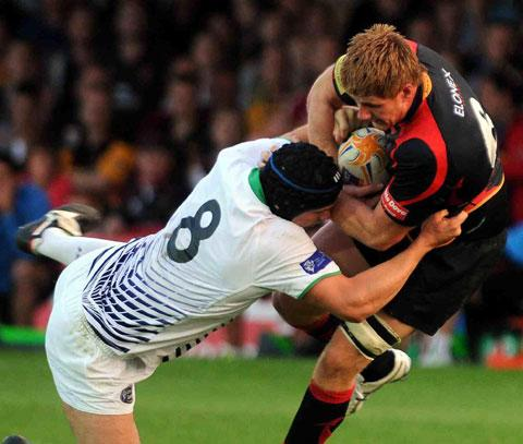 METEORIC RISE: Newport Gwent Dragons lock Andrew Coombs