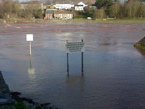 Flooding in Llanfoist today