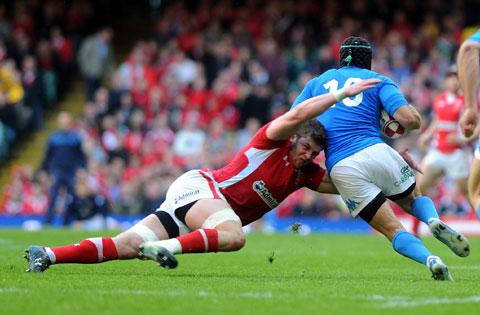 TACKLE MACHINE: Dan Lydiate, the 2012 Six Nations player of the tournament