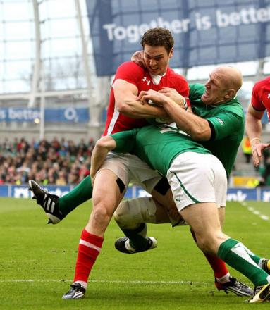 THREAT: Wales winger George North