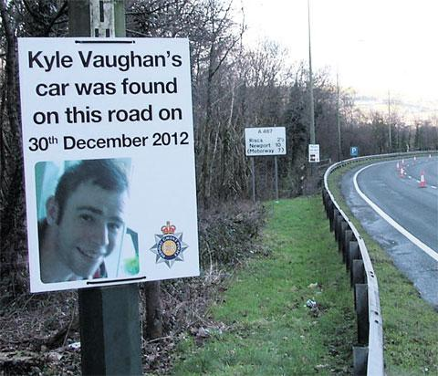APPEAL: Posters hoping to prompt motorists who may have seen Kyle Vaughan