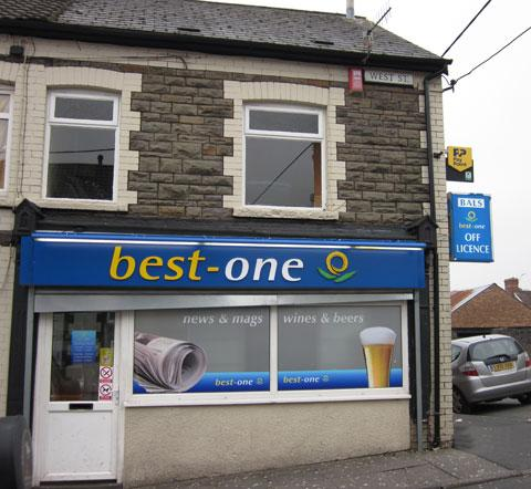 SCENE: The Best One convenience store on West Street, Bargoed
