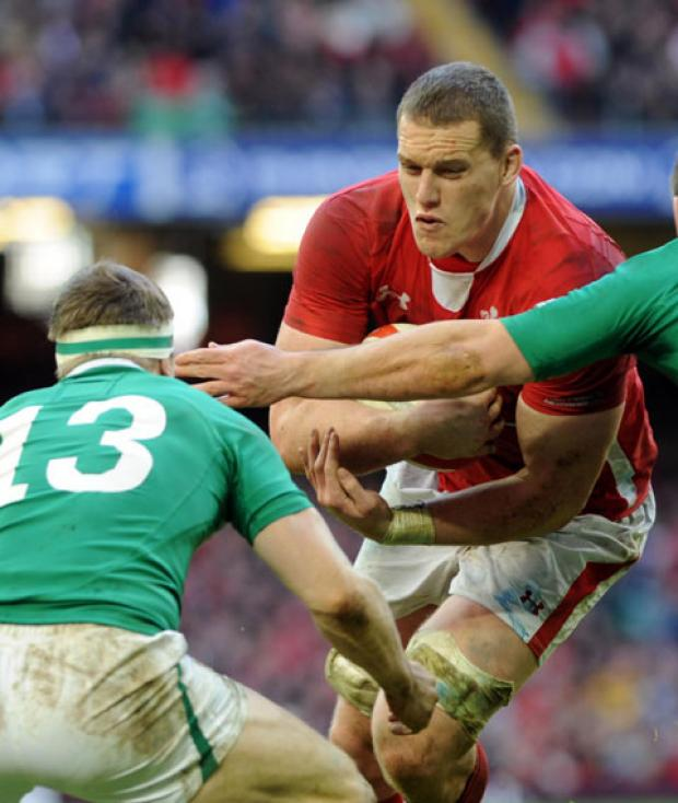 GREAT FORM: Wales and Ospreys second row Ian Evans