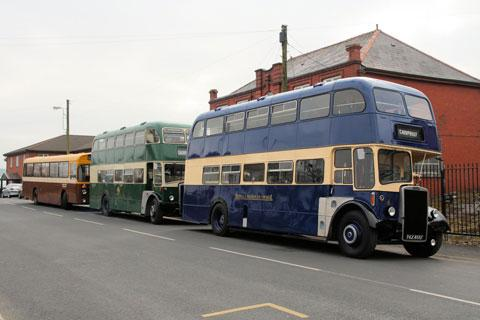 BUS PARADE: Some of the vehicles on show