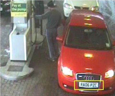 APPEAL: CCTV of the red Audi A3 at Morrisons in Caerphilly