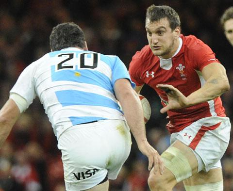 BACK WITH A BANG: Sam Warburton returned against Scotland and was man of the match